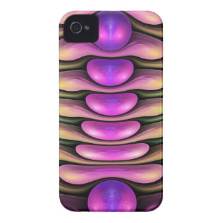 Sople las burbujas, caso abstracto artístico del iPhone 4 Case-Mate carcasa