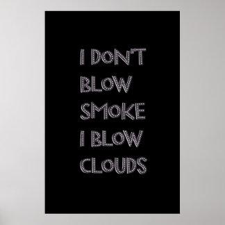 Sople los posters superiores de Vape de las nubes