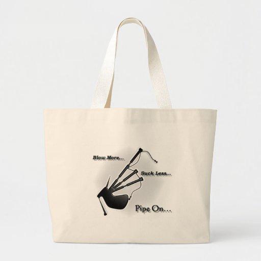 Sople más… Chupe menos… (Moderno) Bolsa Tela Grande