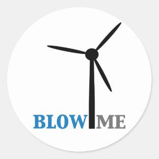 sópleme turbina de viento pegatina redonda