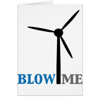 sópleme turbina de viento tarjeta de felicitación