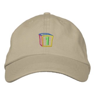 Soplo 1 del bloque de los niños gorra de béisbol bordada