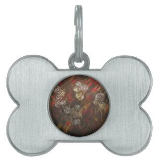 Soplo abstracto de los rosas en la brisa placas de mascota