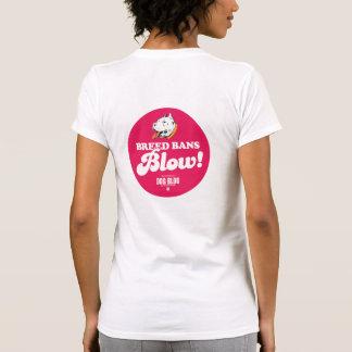 Soplo de las prohibiciones de la raza (del diseño camisetas
