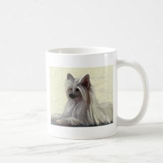 Soplo de polvo con cresta chino hermoso tazas de café