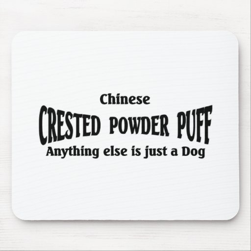 Soplo de polvo con cresta chino tapetes de ratón