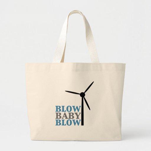 soplo del bebé del soplo (energía eólica) bolsa tela grande