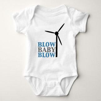 soplo del bebé del soplo (energía eólica) playeras
