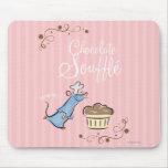 Soplo del chocolate tapetes de ratón