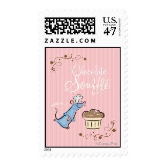 Soplo del chocolate timbre postal