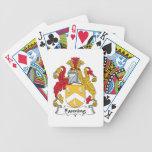 Soplo del escudo de la familia barajas de cartas