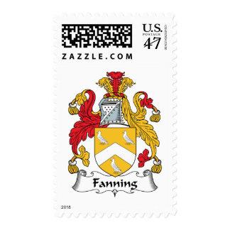 Soplo del escudo de la familia estampillas