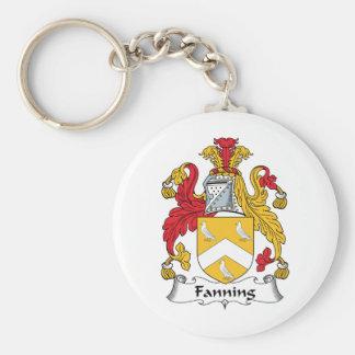 Soplo del escudo de la familia llaveros