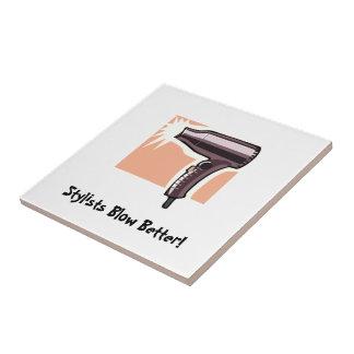Soplo del estilista (personalizable) teja cerámica