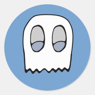 Soplo del fantasma pegatina redonda