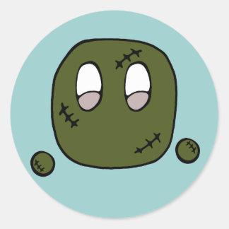 Soplo del zombi pegatina redonda