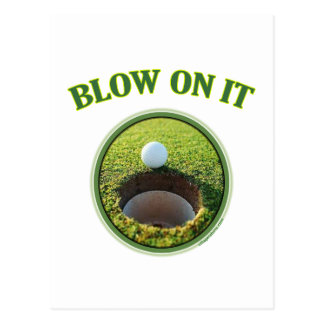 Soplo en él golf postal
