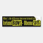 Soplos de Islandia - Obama chupa Etiqueta De Parachoque