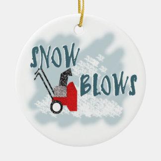 Soplos de la nieve adorno de navidad
