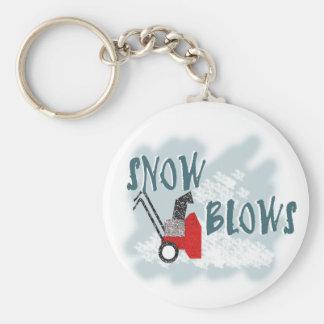Soplos de la nieve llavero redondo tipo pin