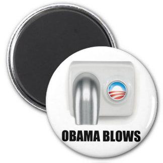 Soplos de Obama Imán De Frigorifico
