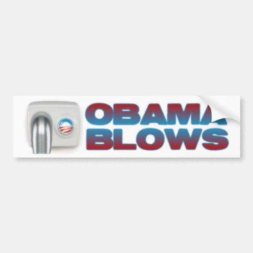 Soplos de Obama Pegatina De Parachoque