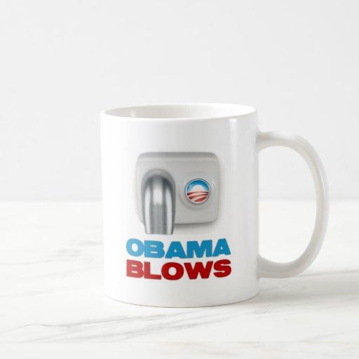 Soplos de Obama Taza De Café