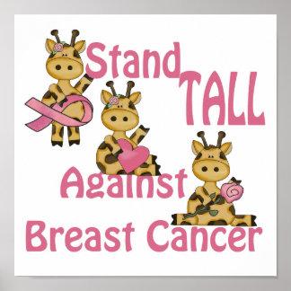 soporte alto contra cáncer de pecho posters
