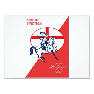 Soporte alto P retro orgulloso de San Jorge del Invitación 16,5 X 22,2 Cm