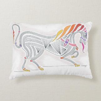 Soporte, arte del orig, caballo medieval colorido cojín decorativo