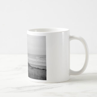 Soporte blanco y negro del salvavidas taza