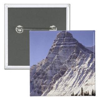 Soporte Chepren, parque nacional de Banff, Alberta Pin Cuadrada 5 Cm
