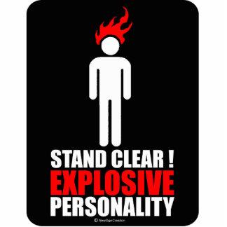 ¡Soporte claro! personalidad explosiva Fotoescultura Vertical
