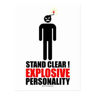 ¡Soporte claro personalidad explosiva Postales
