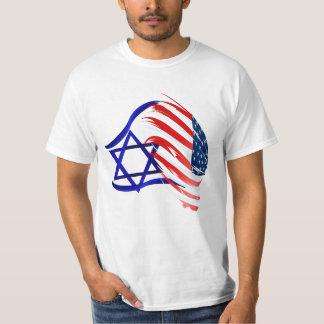 Soporte con el camisetas de Israel Playeras