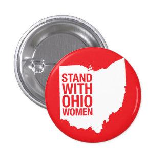 Soporte con el Mujer-Botón de Ohio Pin Redondo De 1 Pulgada