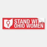 Soporte con el pegatina del Mujer-Parachoque de Oh Etiqueta De Parachoque
