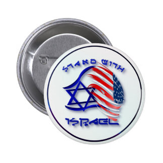 Soporte con Israel - botones indicados con letras Pin Redondo De 2 Pulgadas