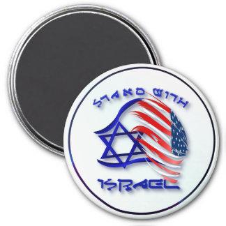 Soporte con Israel - imanes indicados con letras Imán Redondo 7 Cm