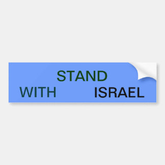 SOPORTE CON ISRAEL PEGATINA PARA AUTO