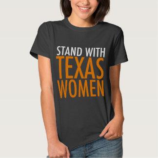 Soporte con las mujeres de Tejas Camisas