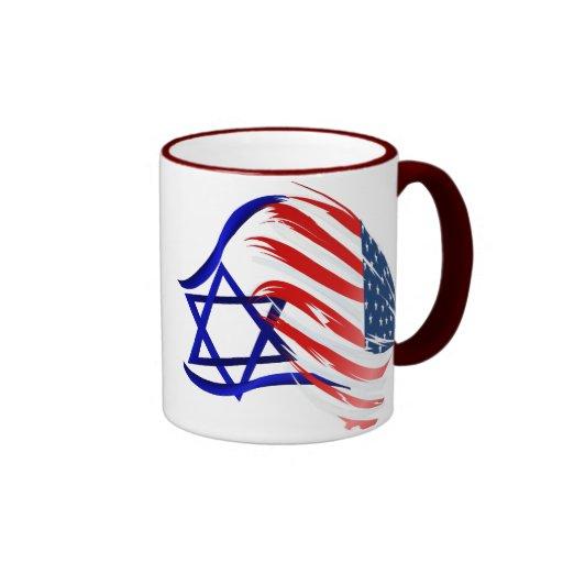 Soporte con las tazas de Israel