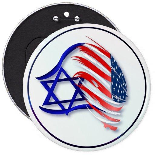 Soporte con los botones de Israel Pin Redondo De 6 Pulgadas