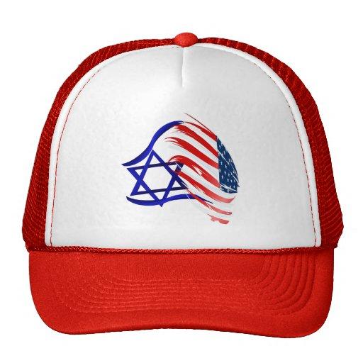 Soporte con los gorras de Israel
