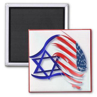 Soporte con los imanes de Israel Imán Cuadrado