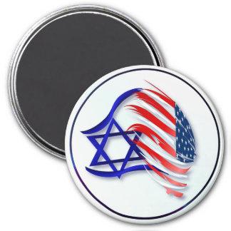Soporte con los imanes de Israel Imán Redondo 7 Cm