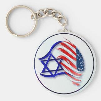 Soporte con los llaveros de Israel