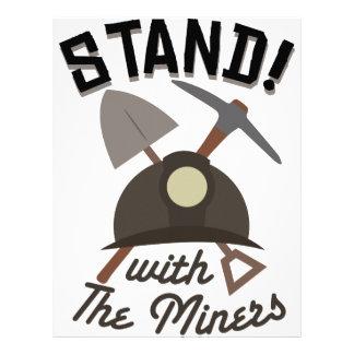 ¡Soporte! Con los mineros Membrete