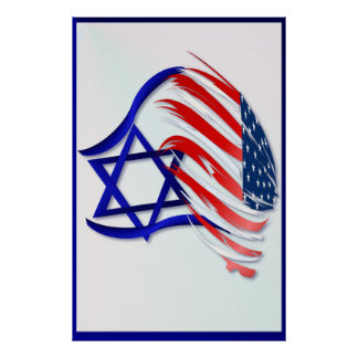 Soporte con los posters grandes de Israel