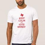 Soporte con Wendy Davis Camiseta
